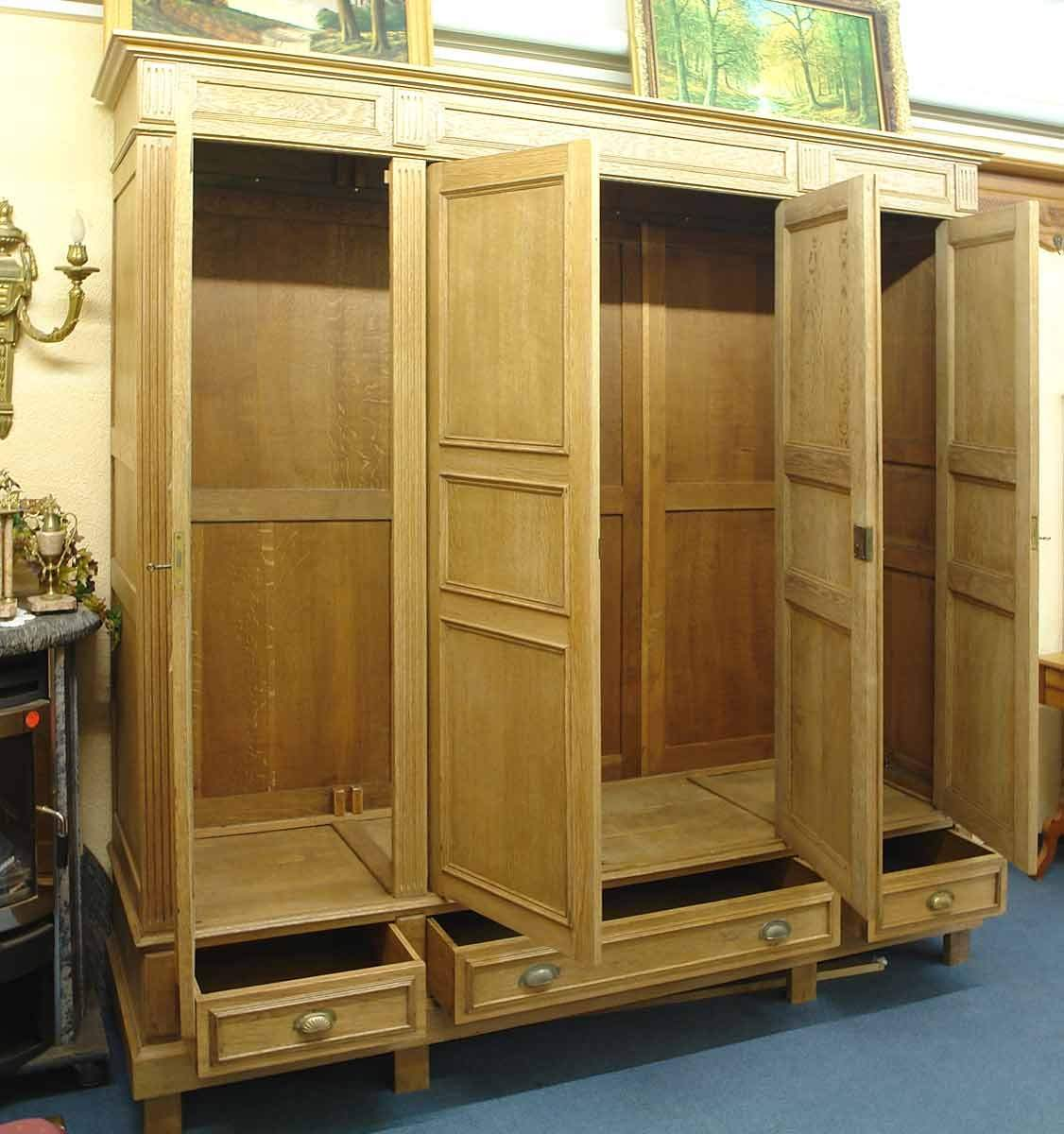 schrank kleiderschrank gr nderzeit um 1880 massiv eiche 1082 ebay. Black Bedroom Furniture Sets. Home Design Ideas