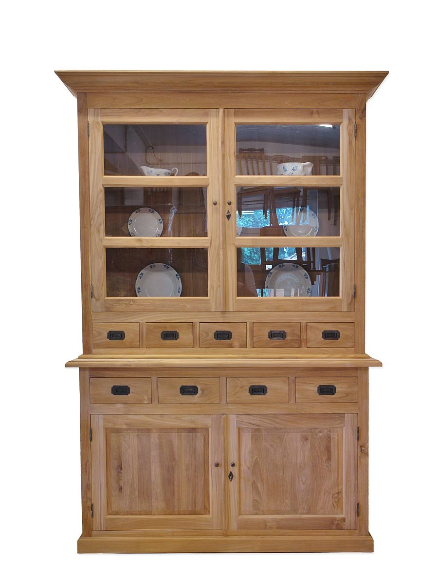 k chenschrank buffetschrank buffet teakholz natur 2802 ebay. Black Bedroom Furniture Sets. Home Design Ideas