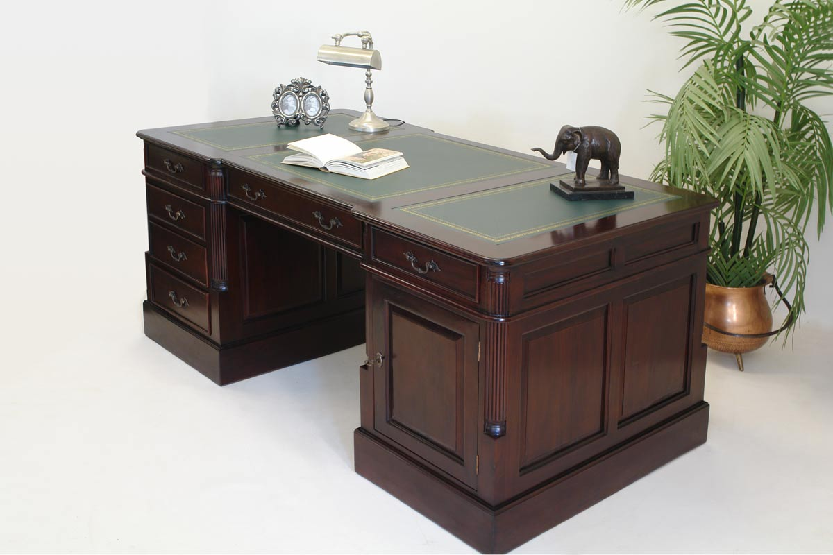 schreibtisch b rotisch partnerdesk antik stil mahagoni 1873 ebay. Black Bedroom Furniture Sets. Home Design Ideas