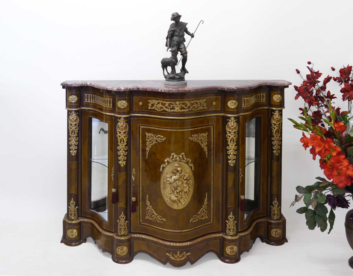 sideboard anrichte schrank im barock stil 2142 ebay. Black Bedroom Furniture Sets. Home Design Ideas