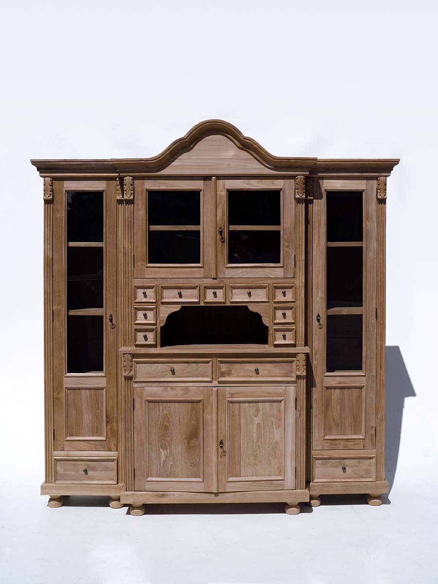 buffet buffetschrank k chenbuffet landhausstil teakholz massiv 2626 ebay. Black Bedroom Furniture Sets. Home Design Ideas