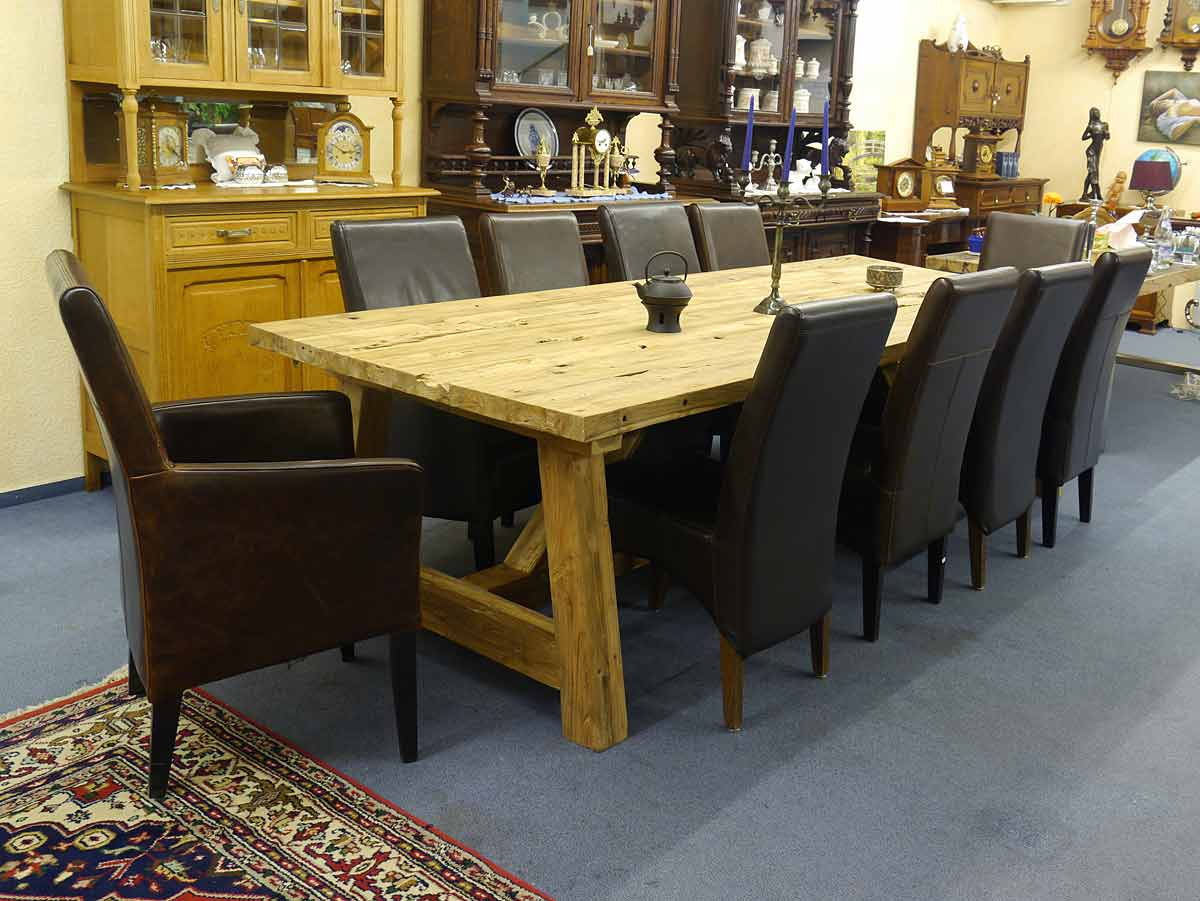 esstisch tisch esszimmertisch teakhholz massiv 12 personen 2710 ebay. Black Bedroom Furniture Sets. Home Design Ideas