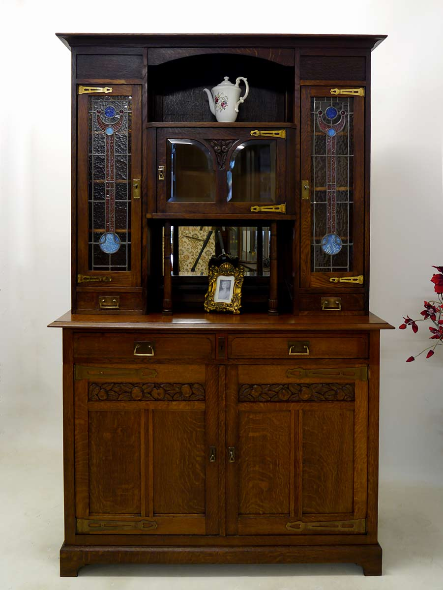 buffet buffetschrank k chenschrank jugendstil um 1900. Black Bedroom Furniture Sets. Home Design Ideas