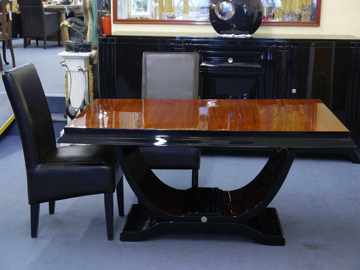tisch esstisch art deco original frankreich um 1925. Black Bedroom Furniture Sets. Home Design Ideas