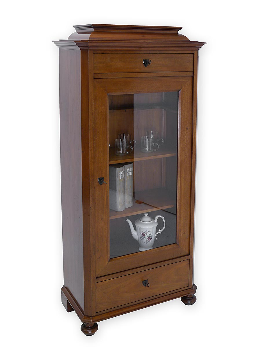 vitrine vitrinenschrank b cherschrank antik biedermeier. Black Bedroom Furniture Sets. Home Design Ideas