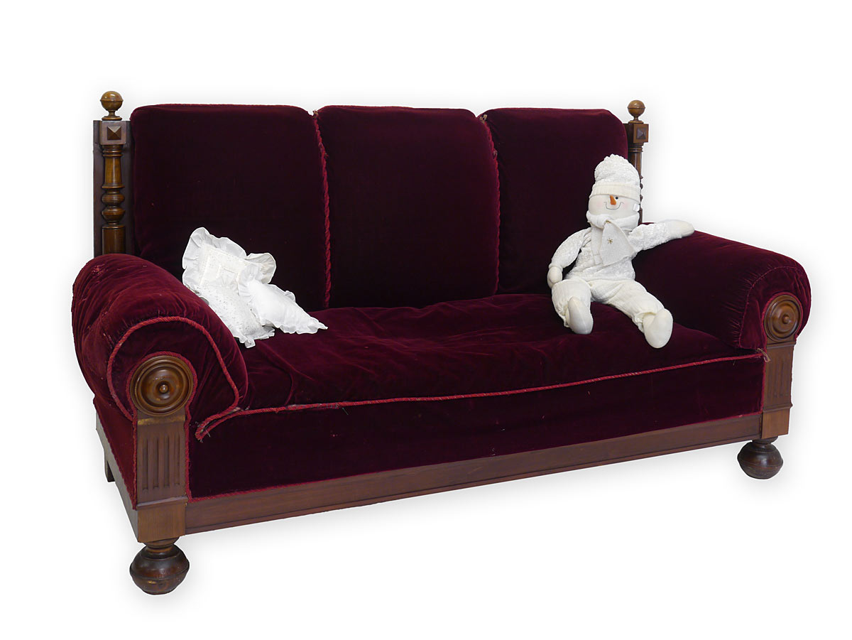 sofa couch polsterm bel antik gr nderzeit um 1880 nussbaum 3272 ebay. Black Bedroom Furniture Sets. Home Design Ideas