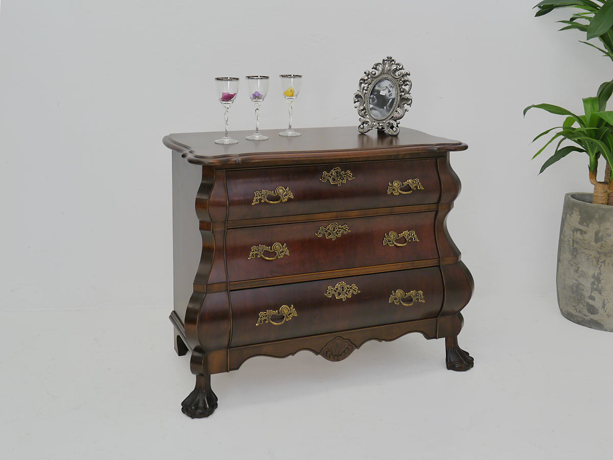 kommode sideboard anrichte w schekommode barock stil ca 50er jahre 4167 ebay. Black Bedroom Furniture Sets. Home Design Ideas