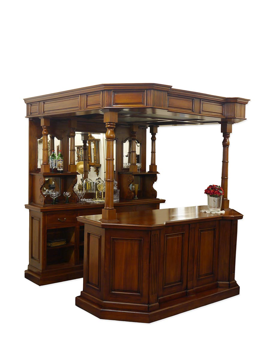 theke tresen bar hausbar kellerbar gastronomie kneipe massiv antik stil 4331 ebay. Black Bedroom Furniture Sets. Home Design Ideas