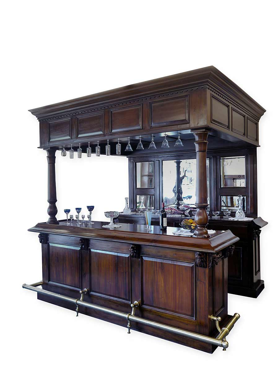 theke tresen bar hausbar kellerbar gastronomie kneipe massiv antik stil 4330 ebay. Black Bedroom Furniture Sets. Home Design Ideas
