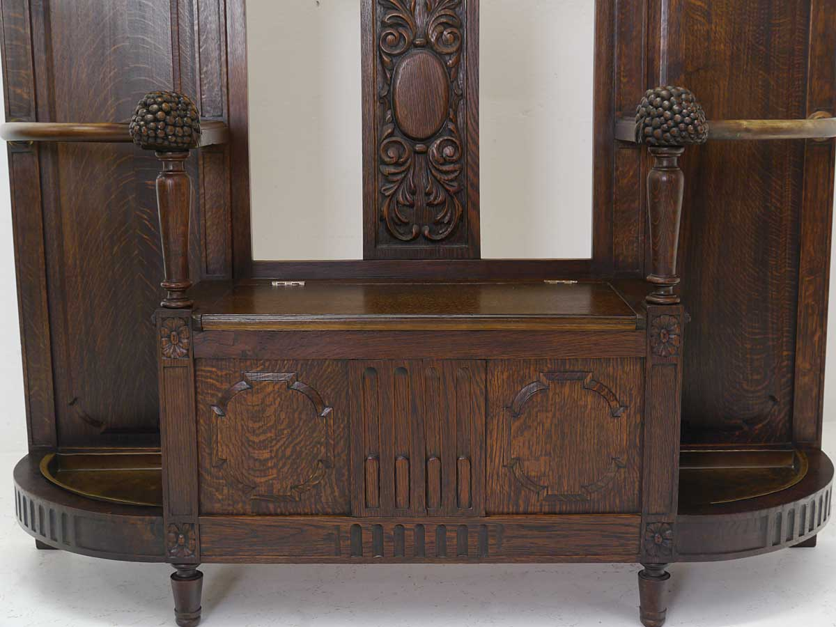 garderobe wandgarderobe flurgarderobe antik jugendstil um 1900 b 130 cm 4959 ebay. Black Bedroom Furniture Sets. Home Design Ideas