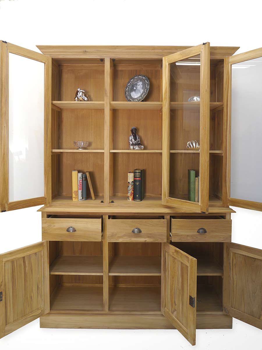 buffet k chenschrank wohnzimmerschrank teak massiv unbehandelt 4991 ebay. Black Bedroom Furniture Sets. Home Design Ideas