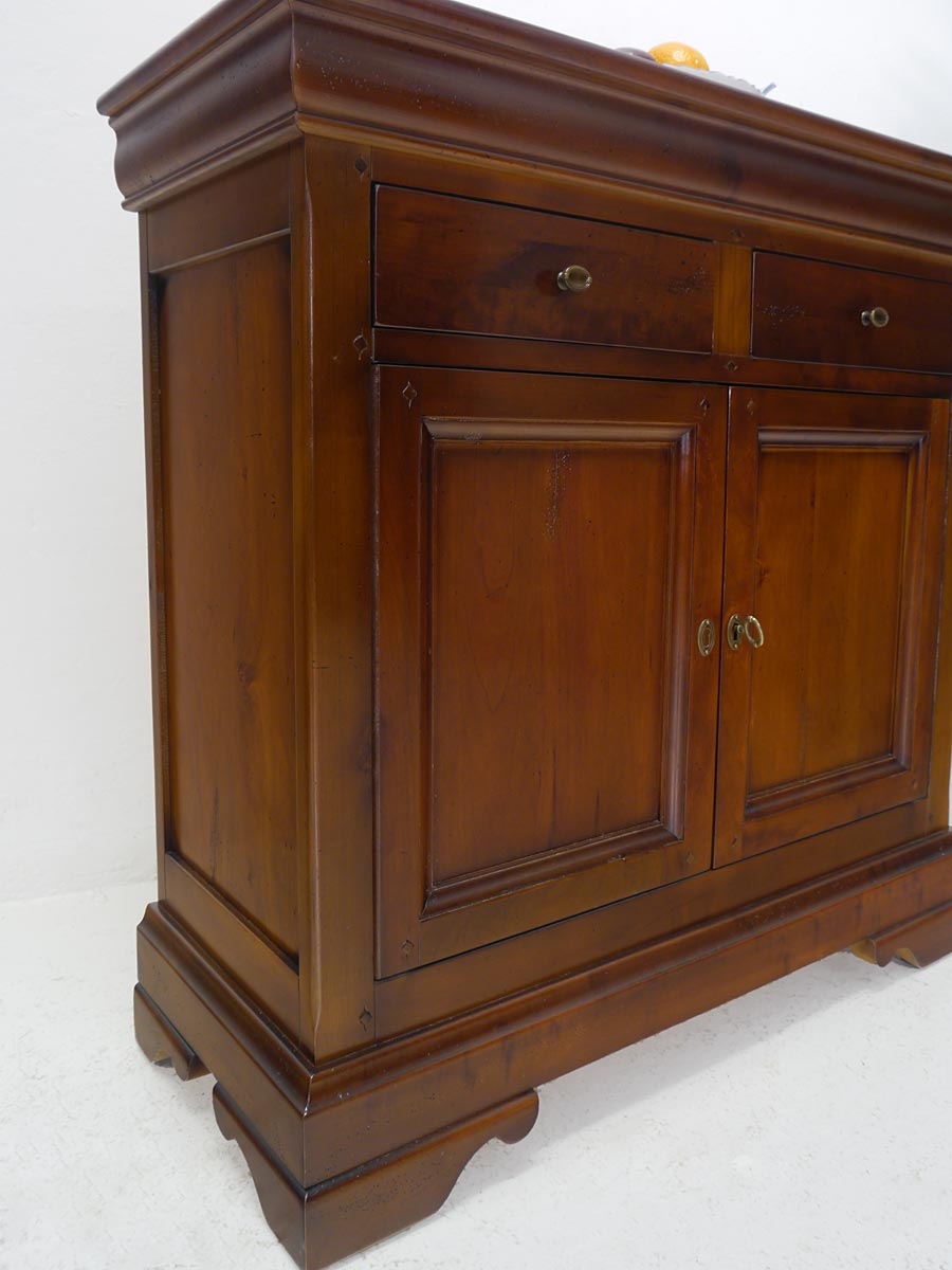 anrichte kommode schrank biedermeier stil mahagoni 91x90x36 cm 5195 ebay. Black Bedroom Furniture Sets. Home Design Ideas