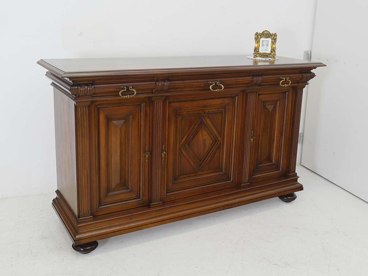 sideboard anrichte schrank antik gr nderzeit um 1880 nussbaum b 189 cm 5579 ebay. Black Bedroom Furniture Sets. Home Design Ideas