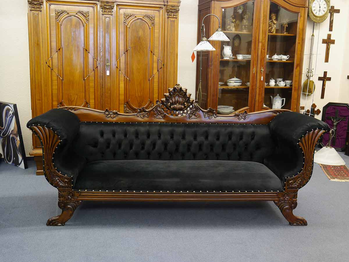 sofa im antiken stil aus massivholz 110x228x68 cm sitzm bel sofas und sessel. Black Bedroom Furniture Sets. Home Design Ideas