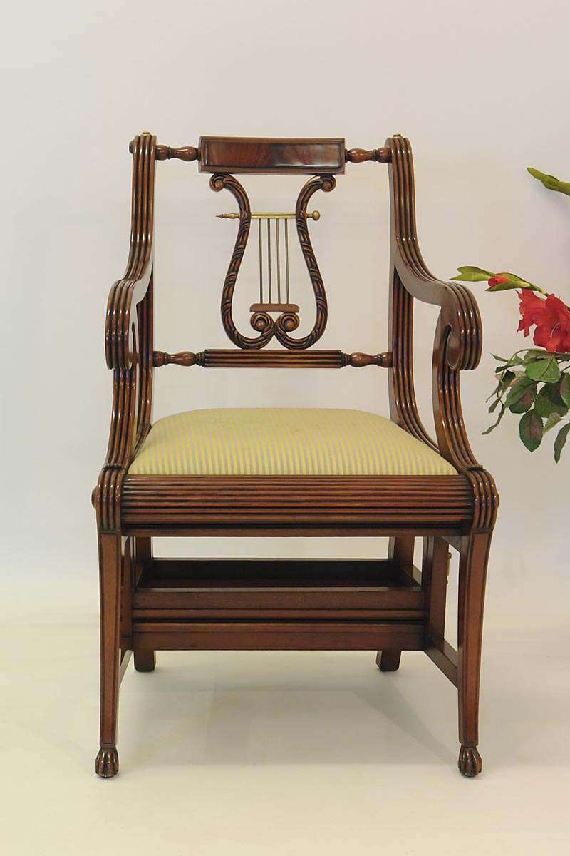 buerostuhl lyra treppenstuhl leiterstuhl aus mahagoni im