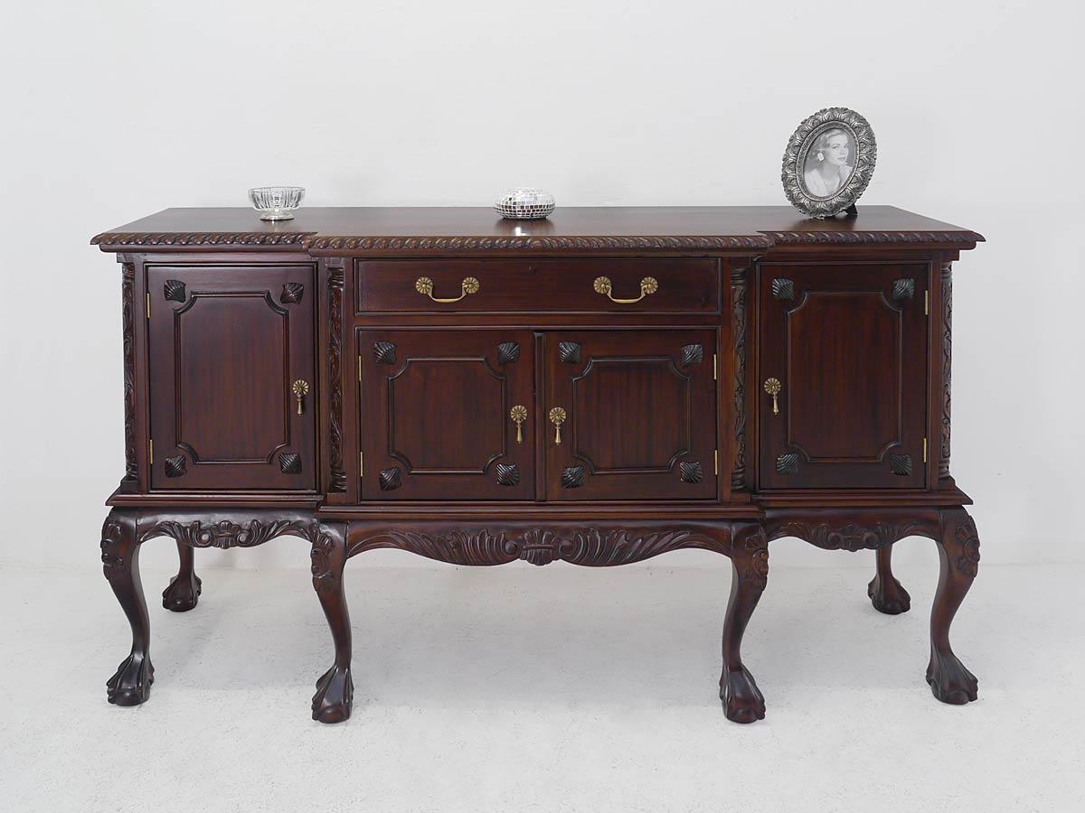 sideboard anrichte schrank mahagoni im nussbaumfarbton im antiken stil 1059 kommoden und. Black Bedroom Furniture Sets. Home Design Ideas