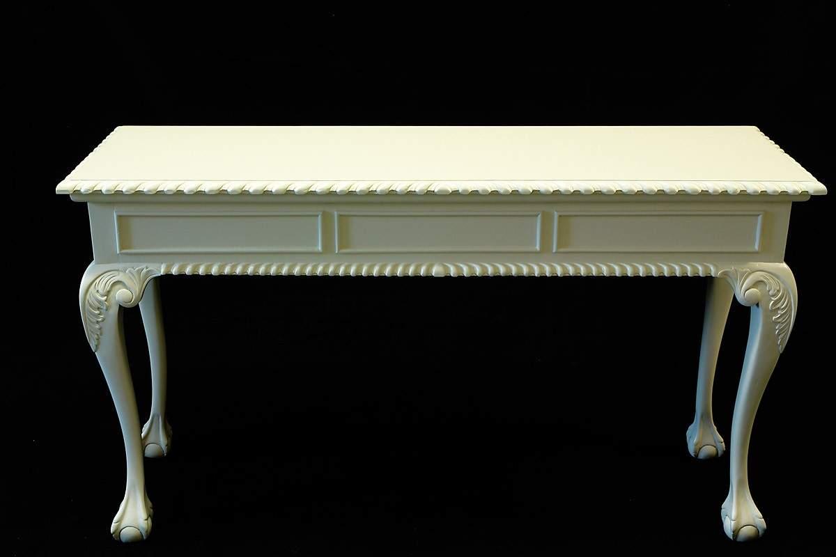 wandtisch wandkonsole tisch konsole im chippendale stil in cremewei 1064 schreibm bel. Black Bedroom Furniture Sets. Home Design Ideas