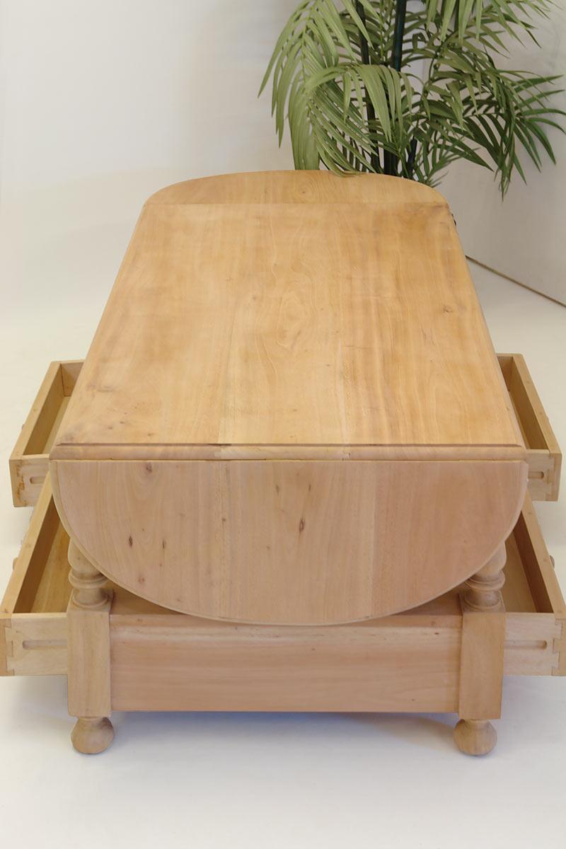 Tisch wohnzimmertisch couchtisch im landhausstil for Schreibtisch schwenkbare tischplatte