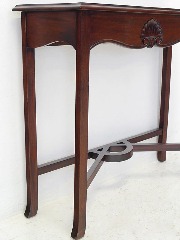 beistelltisch wandkonsole wandtisch im englischen stil massiv in nussbaum 1339 ebay. Black Bedroom Furniture Sets. Home Design Ideas