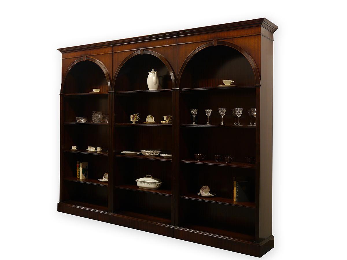 Dreiteiliges Bücherregal aus Mahagoni im englischen Stil