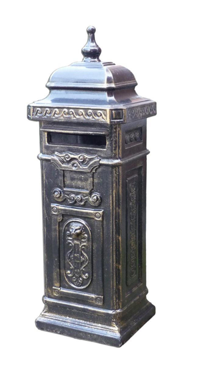 Wunderschöner  Säulen-Briefkasten im englischen Stil
