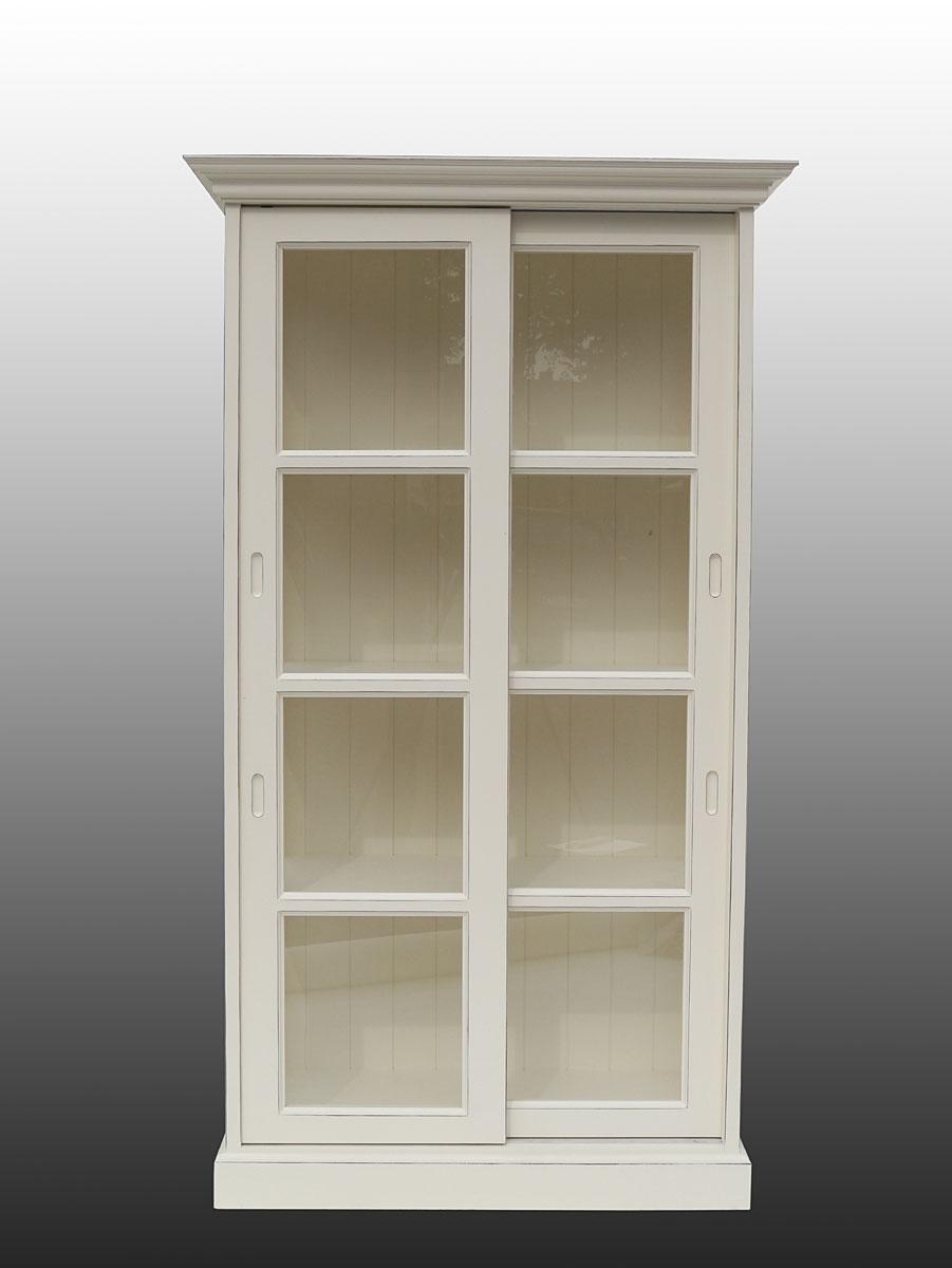 vitrine glasvitrine vitrinenschrank landhausstil in cremewei 1974 m bel schr nke vitrinen. Black Bedroom Furniture Sets. Home Design Ideas