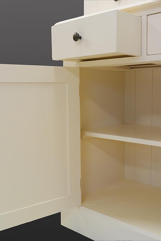 buffet schrank k chenschrank aus weichholz in creme wei im landhausstil 2027 m bel schr nke. Black Bedroom Furniture Sets. Home Design Ideas