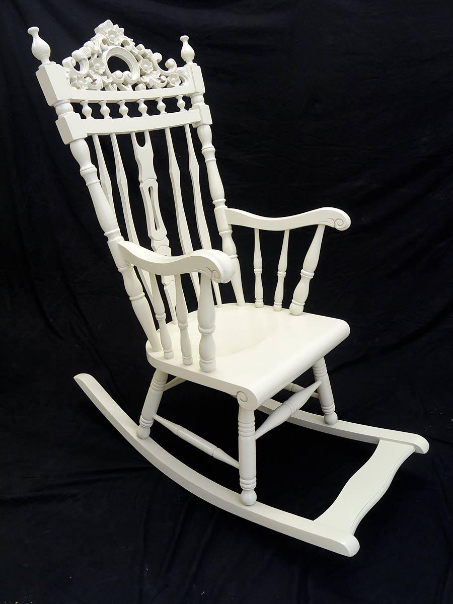 stuhl schaukelstuhl im antiken stil creme wei 4813 m bel sitzm bel st hle. Black Bedroom Furniture Sets. Home Design Ideas