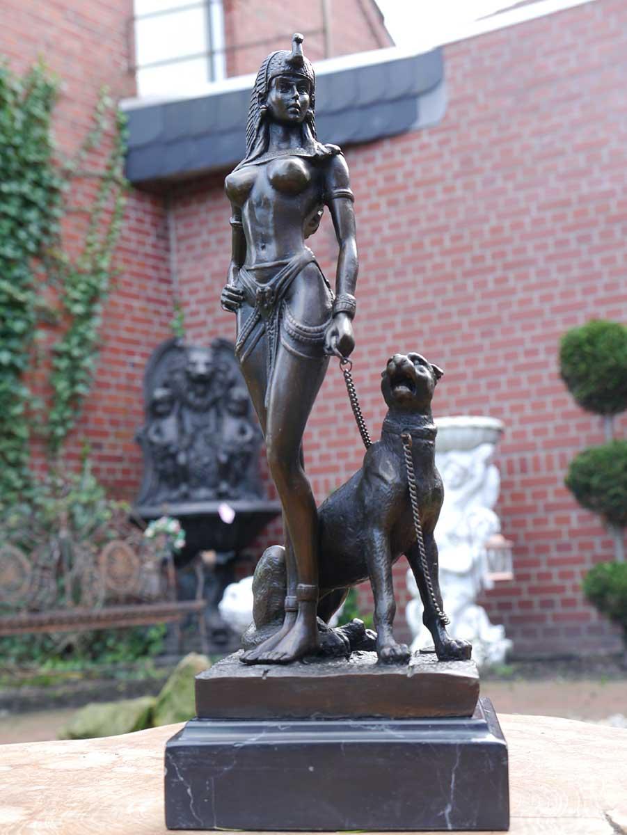 Bronze Figur einer Pharaonin