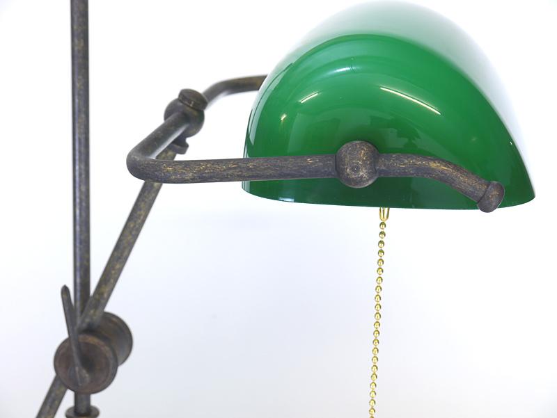 Grünes Lampenglas
