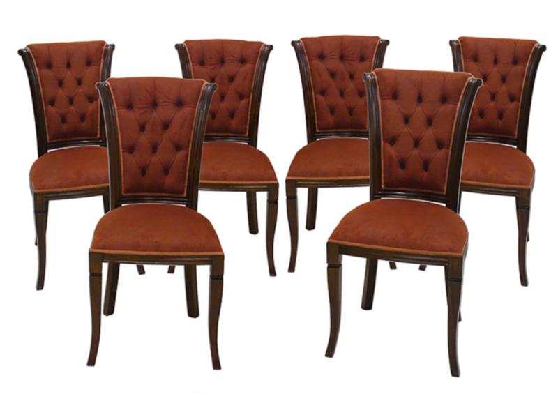 6 edle Stühle im antiken Stil