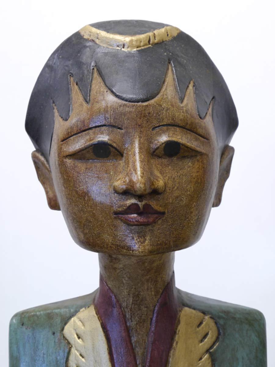 Detailaufnahme vom Frauenkopf