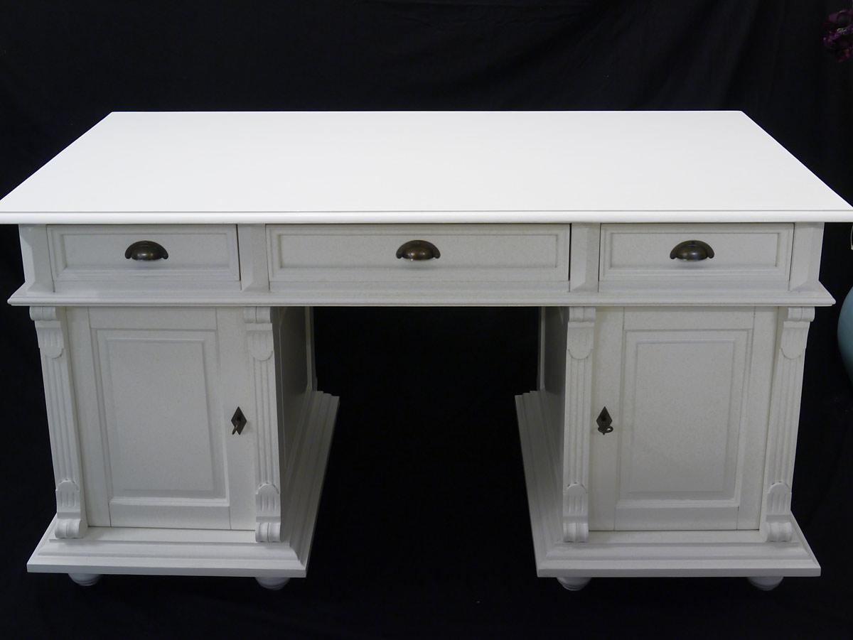 schreibtisch b rom bel computertisch aus massivholz in wei antiker stil 2273 schreibm bel. Black Bedroom Furniture Sets. Home Design Ideas