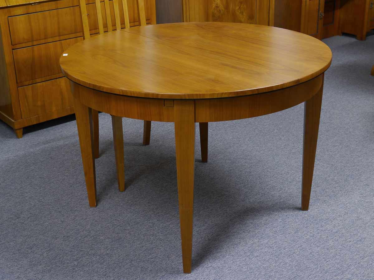 Esstisch Tisch rund Biedermeier Stil Kirschbaum furniert ausziehbar (2293) | eBay
