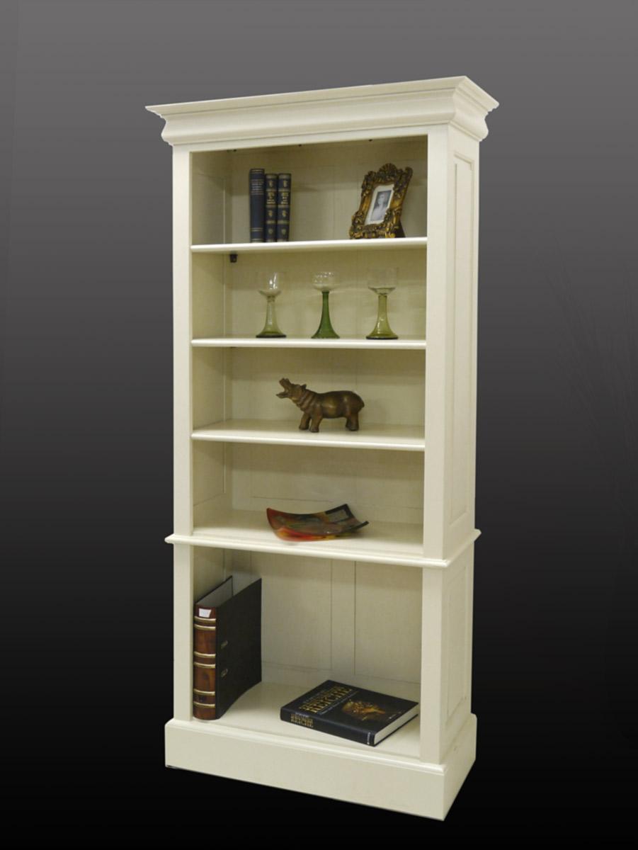 regal b cherregal im klassischen stil aus massivholz in creme wei 2331 regale regalsysteme regale. Black Bedroom Furniture Sets. Home Design Ideas