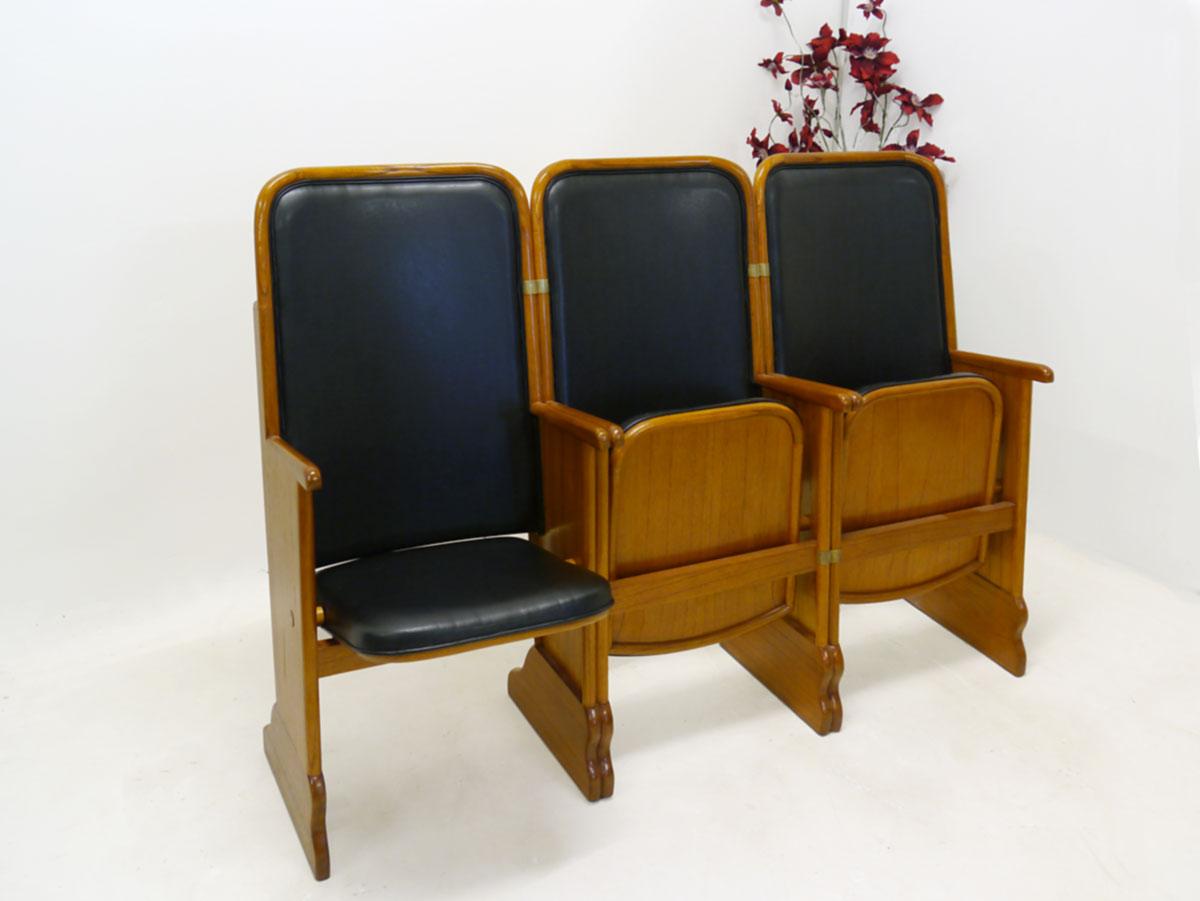 3er sitzreihe kinosessel kinositze aus mahagoni mit lederbezug 2339 m bel sitzm bel b nke. Black Bedroom Furniture Sets. Home Design Ideas