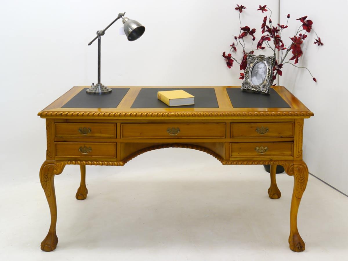 schreibtisch sekret r damenschreibtisch antiken stil lederauflage 2350 schreibm bel schreibtische. Black Bedroom Furniture Sets. Home Design Ideas