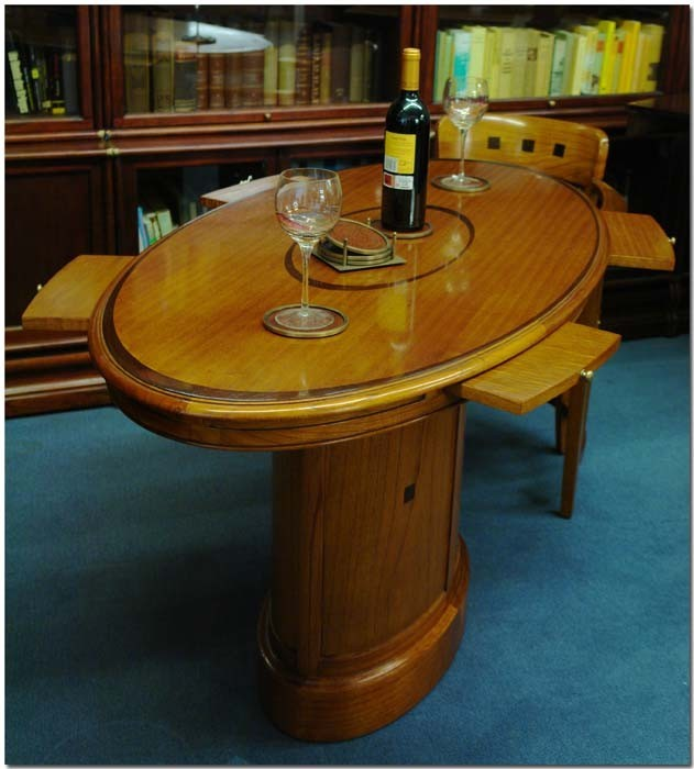 Besprechungstisch Konferenztisch aus Mahagoni für 4 Personen