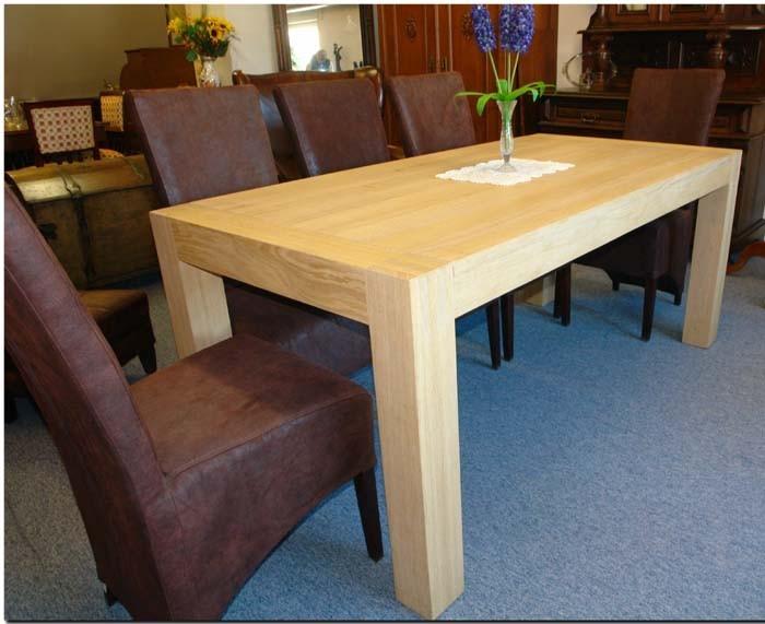 Tisch Esstisch Esszimmertisch Küchentisch Eiche Natur Massiv 180x90