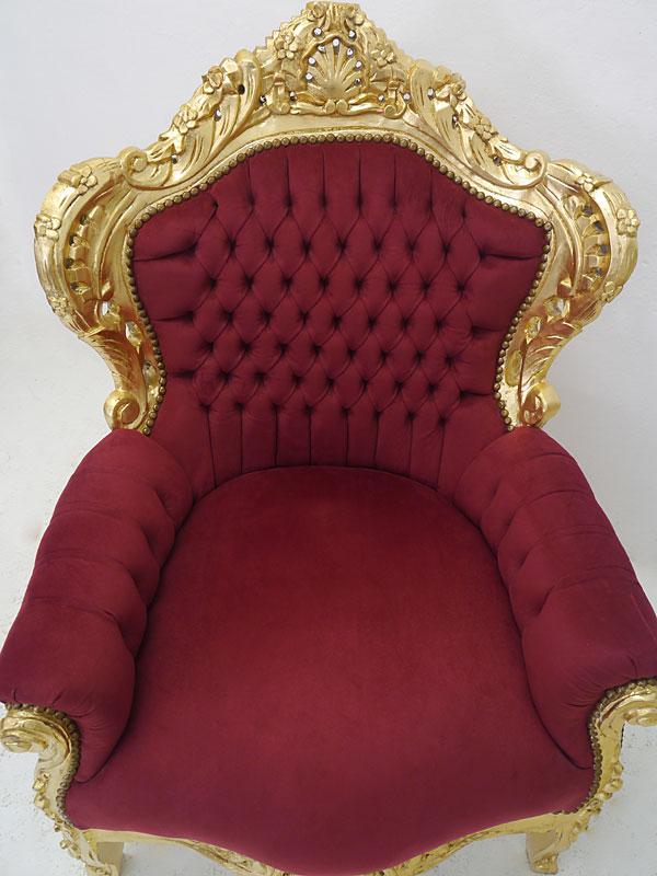 Draufsicht auf dem Sessel