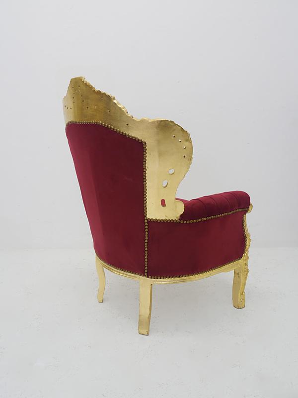 Rückseite von dem barocken Sessel