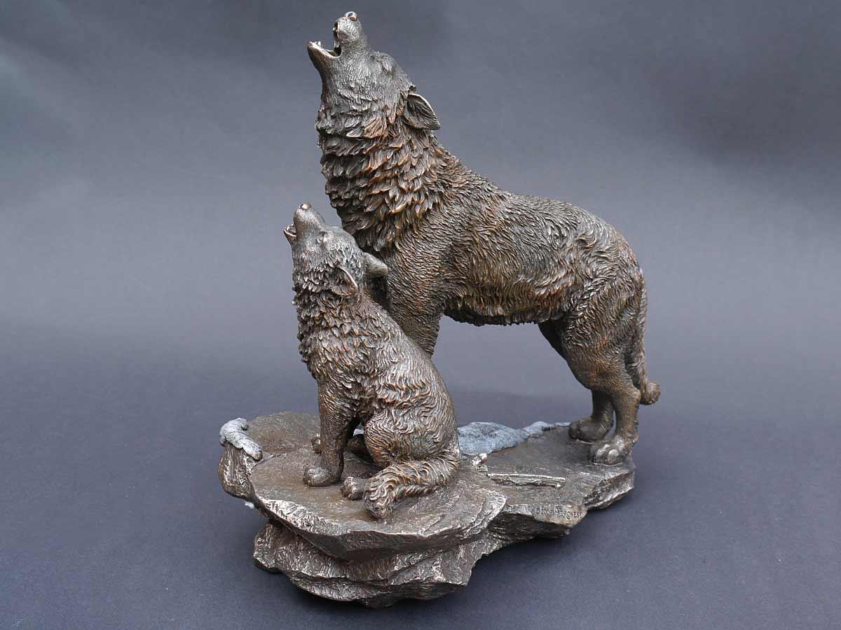 Die Skulptur ist Dekorativ und Ausdrucksstark