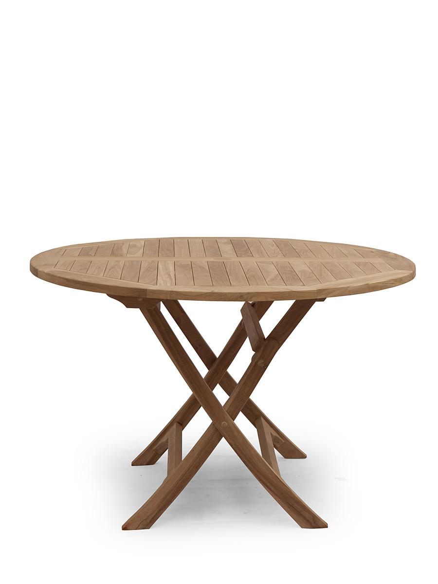 Massiver aufklappbarer runder Gartentisch