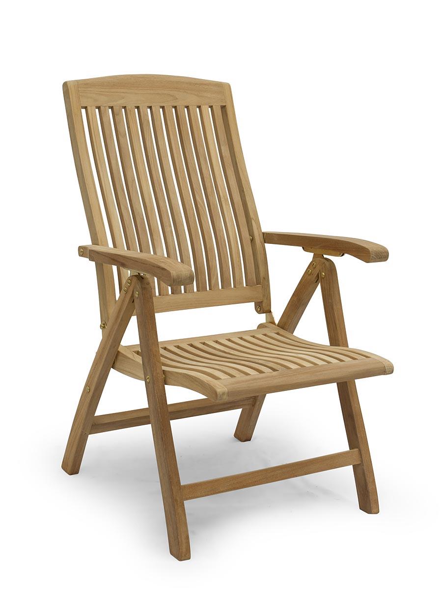 Gartenstuhl Hochlehner Gartenmöbel aus massiven Teak Holz