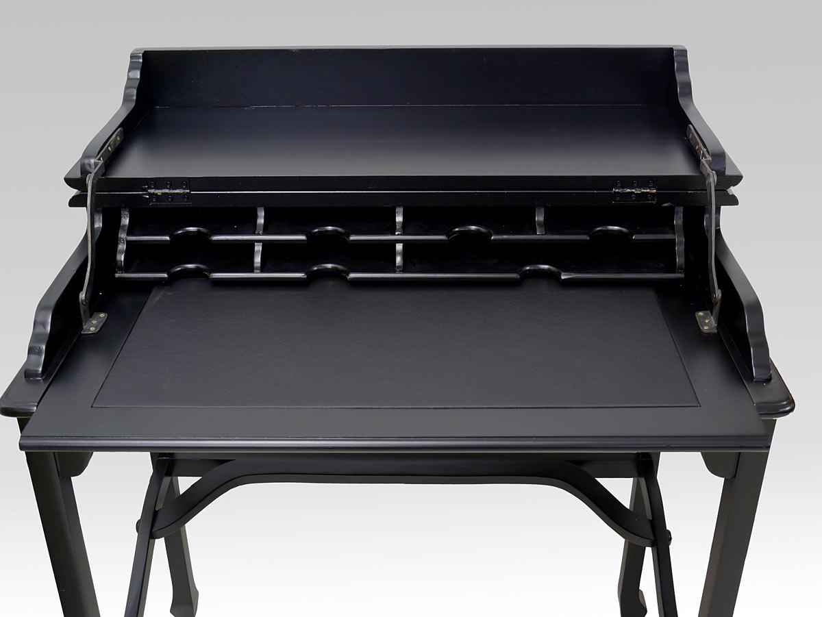sekret r schreibtisch computertisch aus massivholz in schwarz 2771 m bel schreibm bel. Black Bedroom Furniture Sets. Home Design Ideas