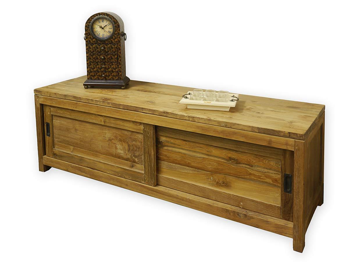 lowboard kommode tv board teakholz massiv landhausstil. Black Bedroom Furniture Sets. Home Design Ideas