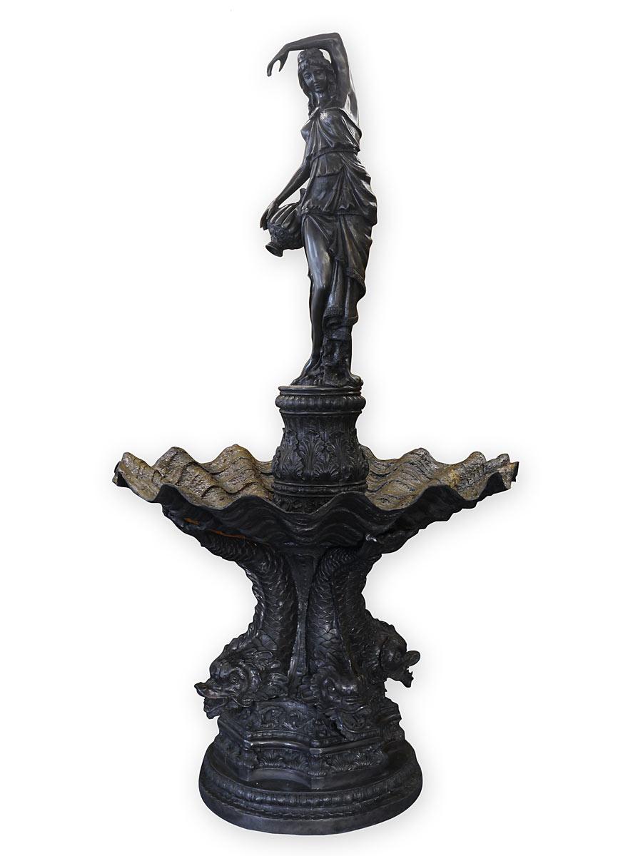 Springbrunnen im maritimen antiken Stil aus Bronze