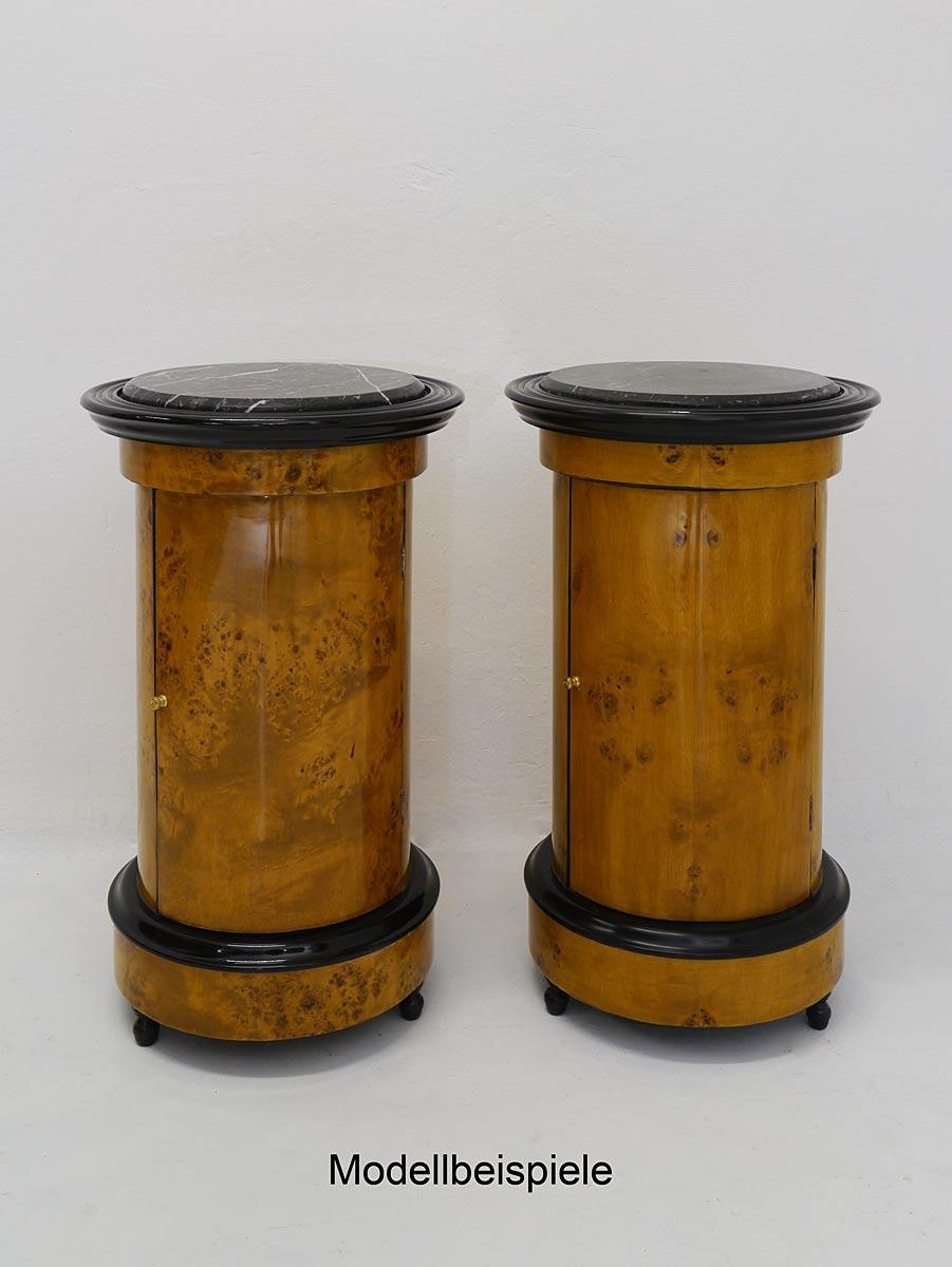 Nachtschrank beistelltisch telefontisch rund im antik stil for Marmorplatte rund