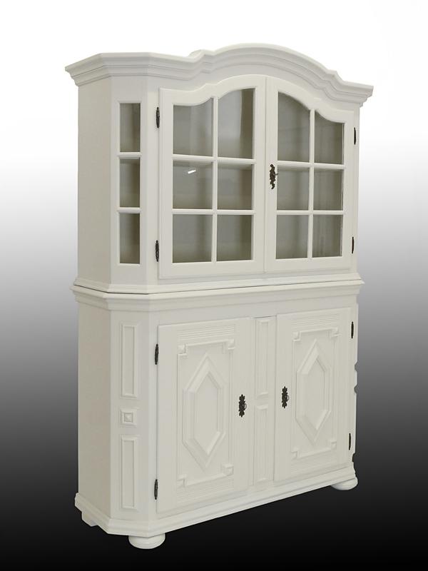 wohnzimmerschrank schrank vitrinenschrank eiche im landhaus stil in wei 3276 m bel schr nke. Black Bedroom Furniture Sets. Home Design Ideas