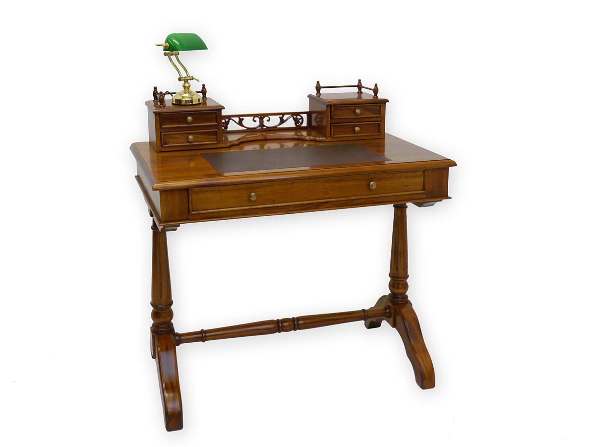schreibtisch damenschreibtisch b rotisch aus massivholz mit lederauflage 3284 schreibm bel. Black Bedroom Furniture Sets. Home Design Ideas